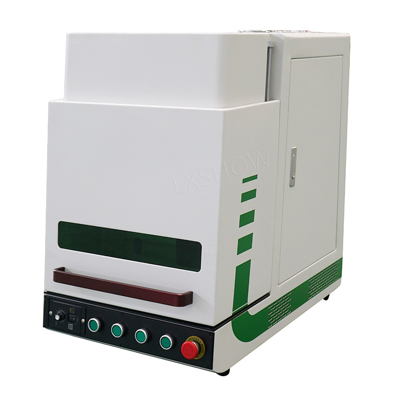 product-Enclosed fiber laser marking machine with protective cover marking metal plastic-Lxshow-img-1