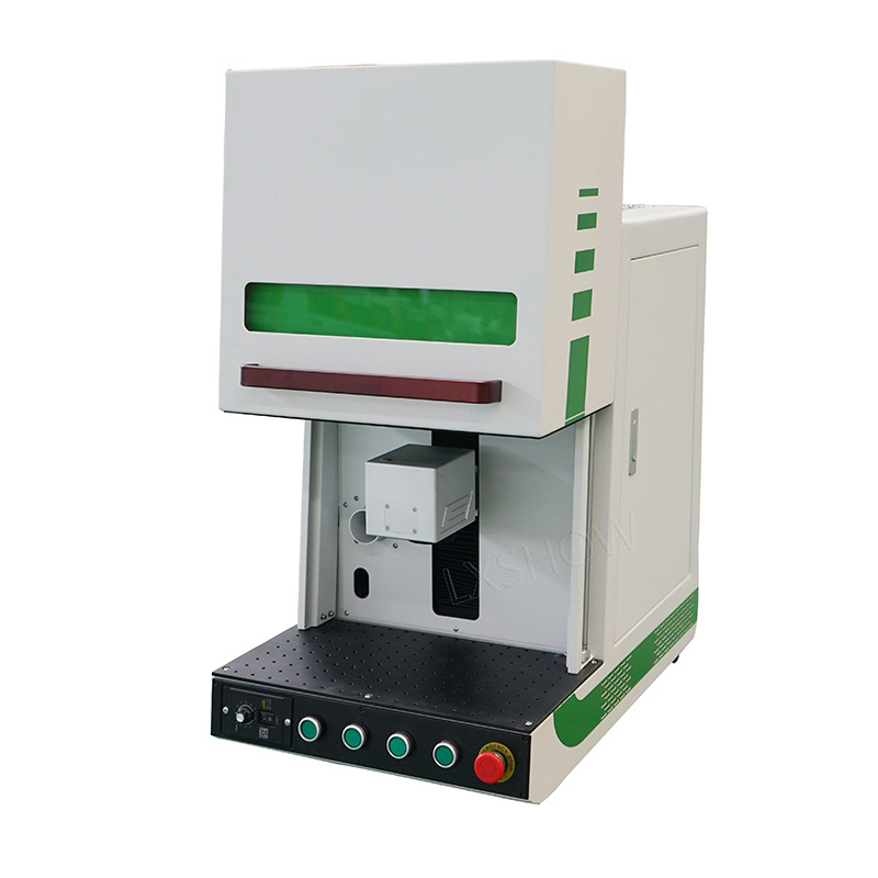 Enclosed fiber laser marking machine with protective cover marking metal plastic
