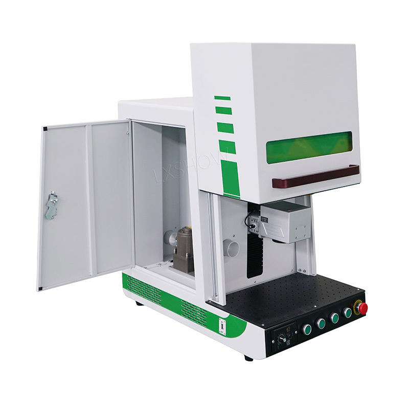 product-Lxshow-Enclosed fiber laser marking machine with protective cover marking metal plastic-img