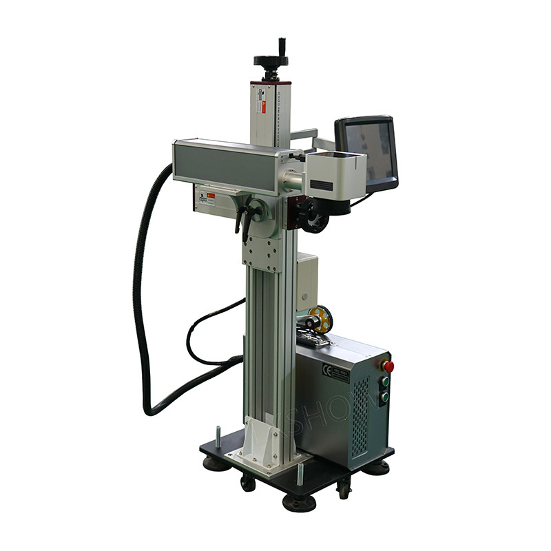 product-Without Computer work easy cooperation portable split fiber laser marking machine-Lxshow-img-1