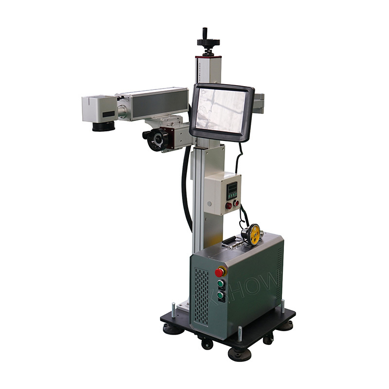 product-Lxshow-Without Computer work easy cooperation portable split fiber laser marking machine-img