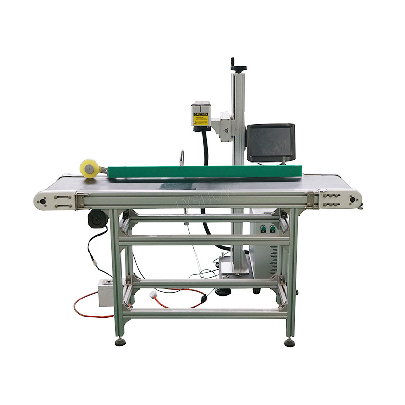 Belt transmission Flying fiber laser marking machine metal laser engraving machine