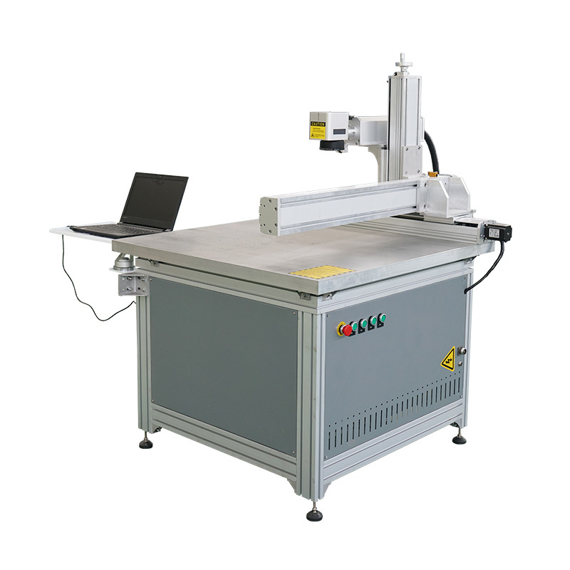 Big size Cross sliding table Raycus ipg laser generator fiber laser marking machine
