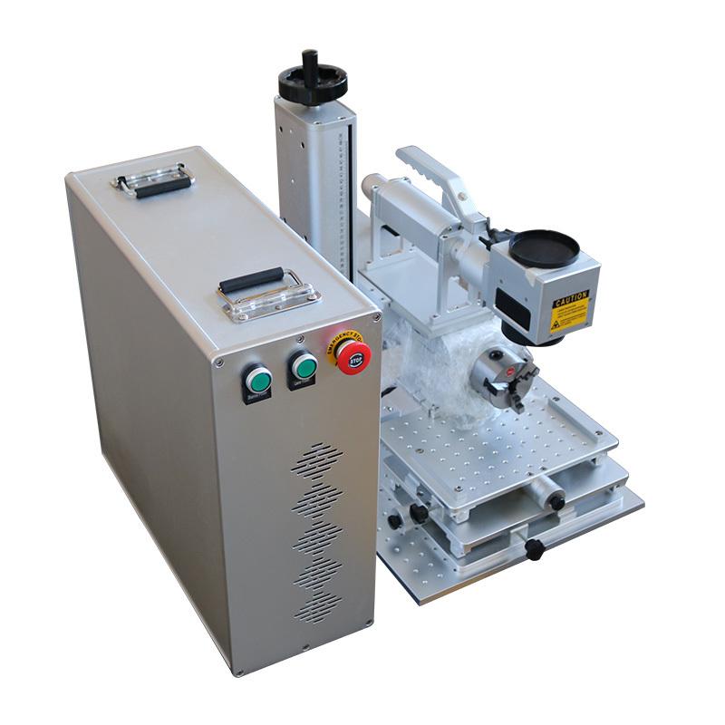 product-Lxshow-Portable small mini split type Fiber laser marking machine marking logo all kinds met