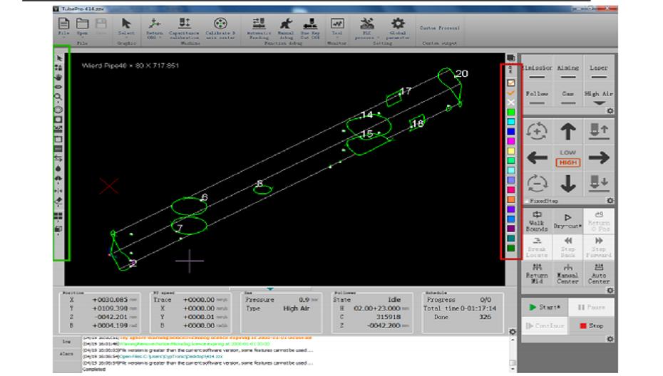 Metal tube Fiber laser cutting software User Manual TubePro