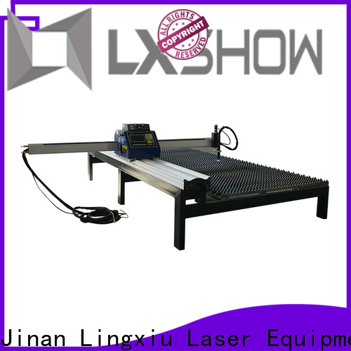 Lxshow plasma cnc table personalized for logo making