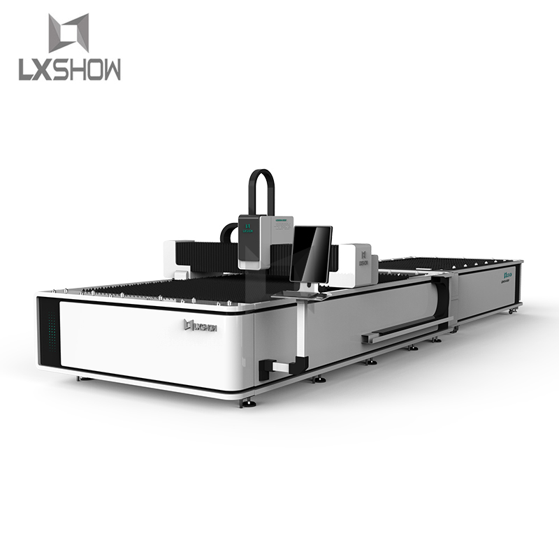 product-Lxshow-Exchange Table Big Power Fiber laser cutting machine 1530 1540 1560 1500W 2200W 3300W
