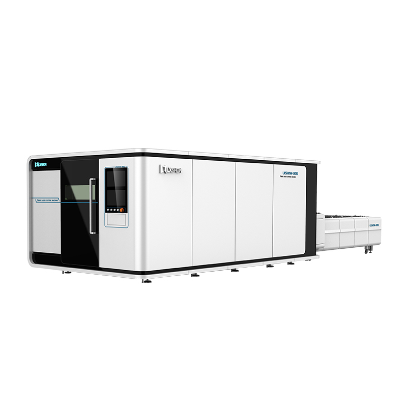 Big Power thick metal plate cnc fiber laser cutting machine 1530 fiber laser cutter 1540 1560 with exchange table and cover