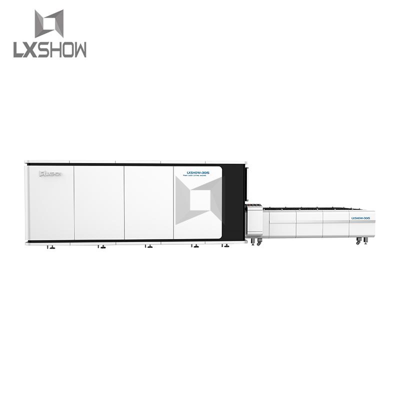 product-Lxshow-Big Power thick metal plate cnc fiber laser cutting machine 1530 fiber laser cutter 1