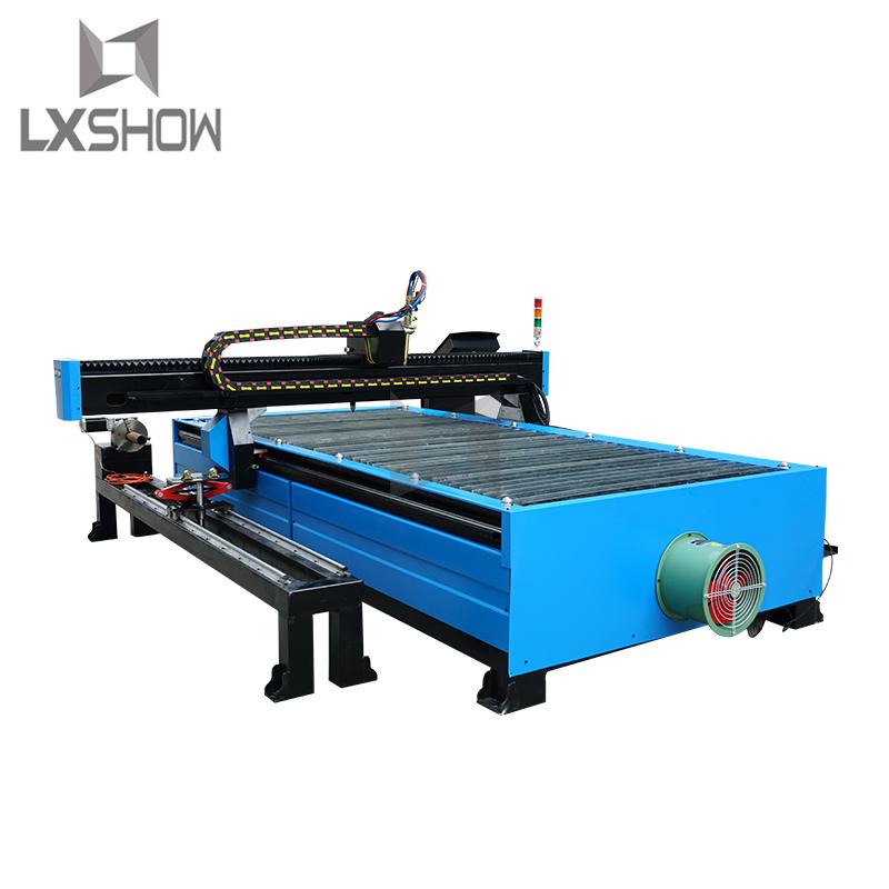 product-Lxshow-Metal sheet and metal tube metal pipe cnc plasma tube cutting machine 1325 1530 2030