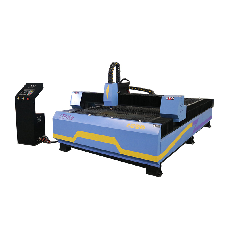 heavy duty cnc plasma cutting machine with 3 axis dust cover linear square rails sawtooth table