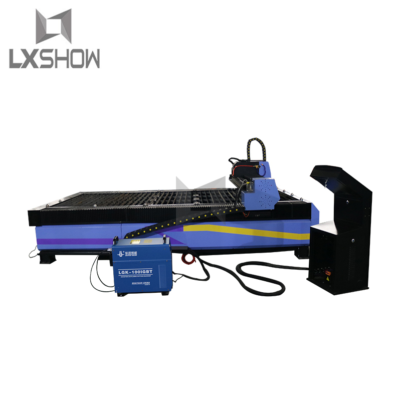 product-Lxshow-heavy duty cnc plasma cutting machine with 3 axis dust cover linear square rails sawt