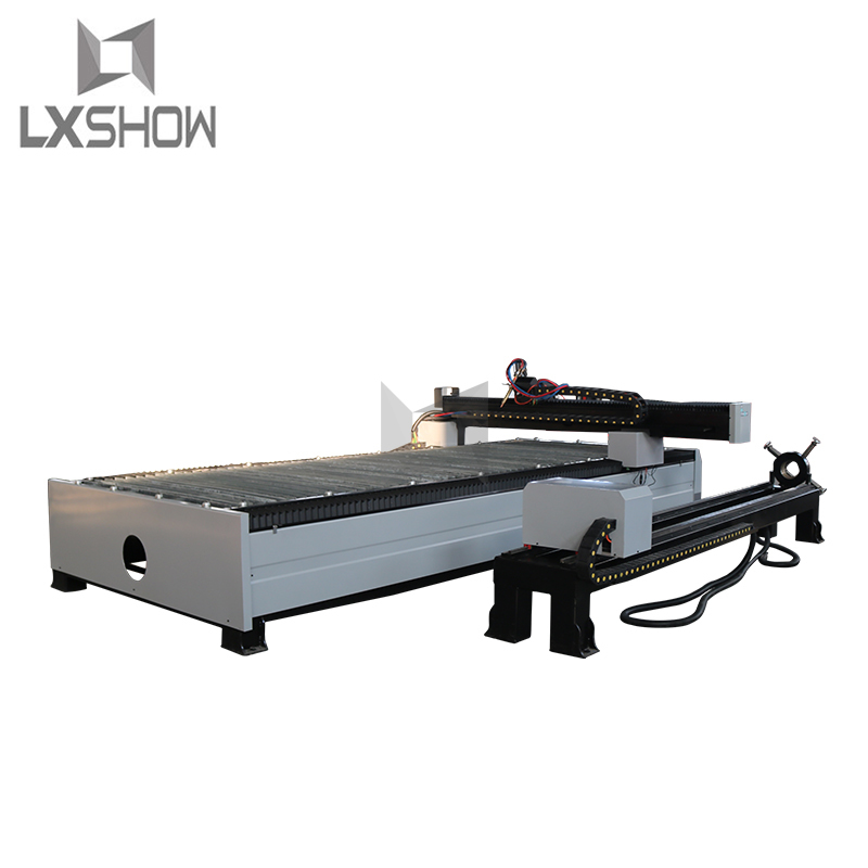 product-Lxshow-Metal Square tube Round tube plasma cutting machine 1325 1530 with rotary device-img