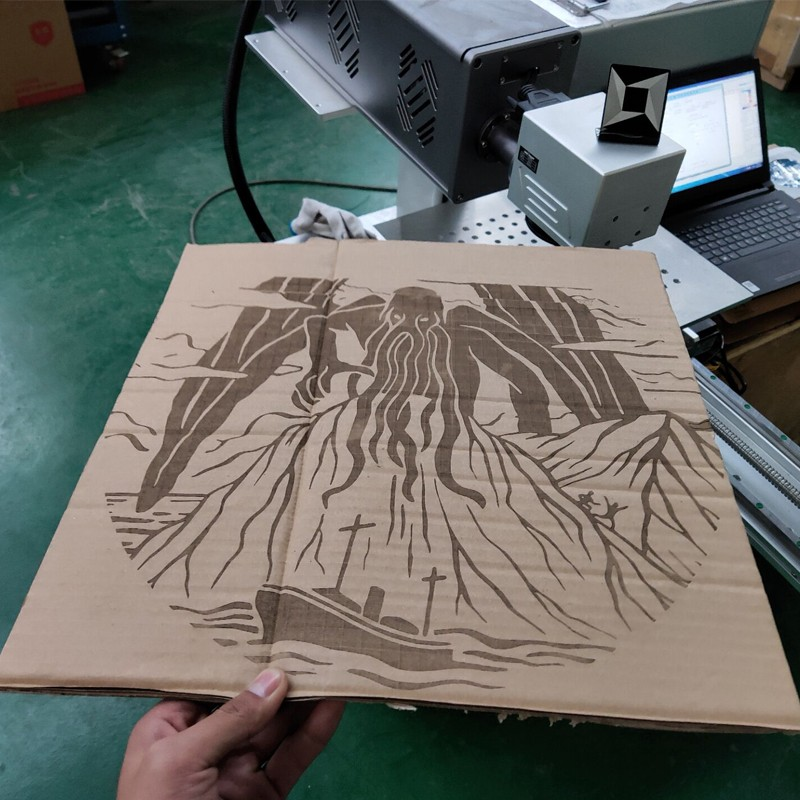 news-CO2 laser marking machine mark on carton with big work size 400400mm equipped sliding table-Lxs