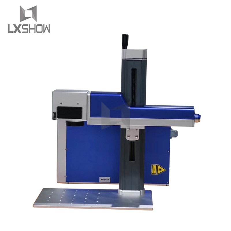 product-Lxshow-20W 30W Raycus Laser Power split mini portable Fiber laser marking machine manufactur