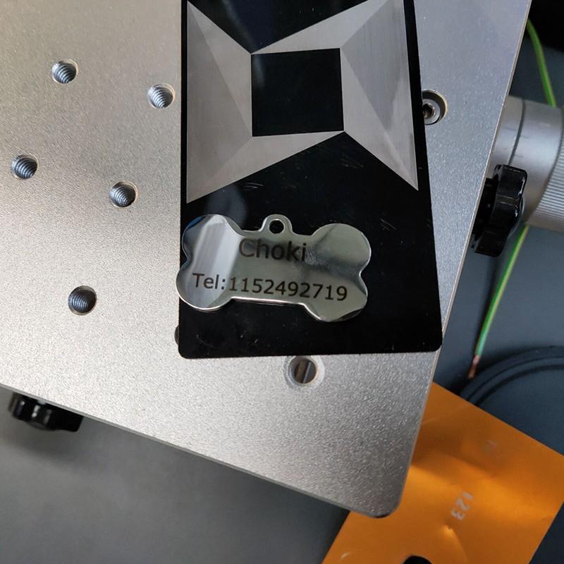 news-Fiber laser marking machine mark on metal dog tag with laser generator 20W 30W 50W-Lxshow-img