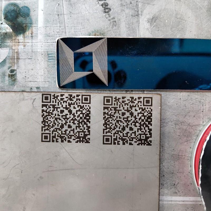 news-Fiber laser marking machine mark QR QuickMark on carbon steel plate-Lxshow-img