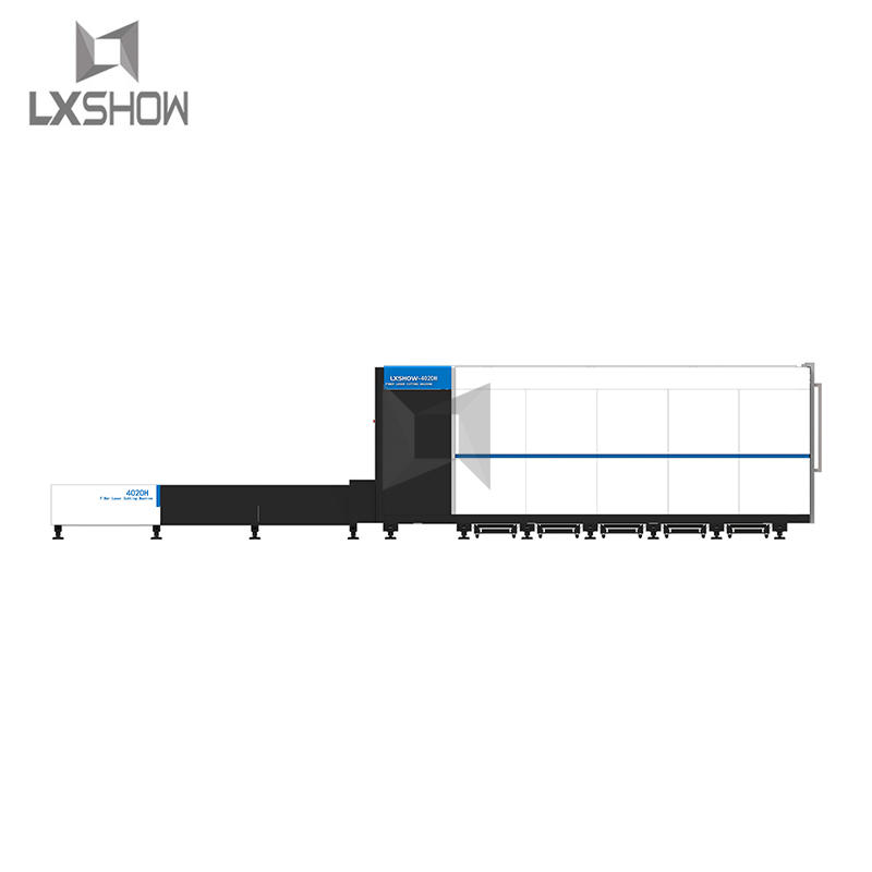 product-High power 6000w cnc metal sheet fiber laser cutting machine with protective cover-Lxshow-im-1