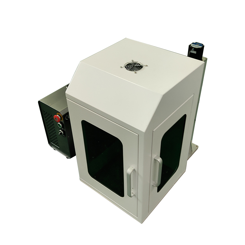 20W 30W 50W 100W closed protective cover mini portable Fiber laser marking machine factory direct supply