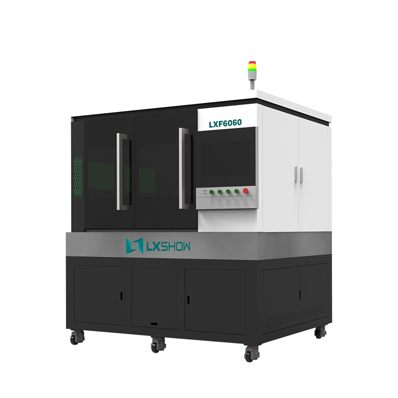 High Precision mini small fiber laser cutting machine LXF6060 with linear motor ball screw transmission 500w 750w 1000w 1500w