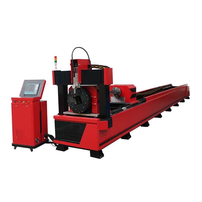 Professional Automatic Chunk rotary with Dual driver Metal tube metal pipe plasma cutting machine LXP6020T (Diameter size 100-400mm)