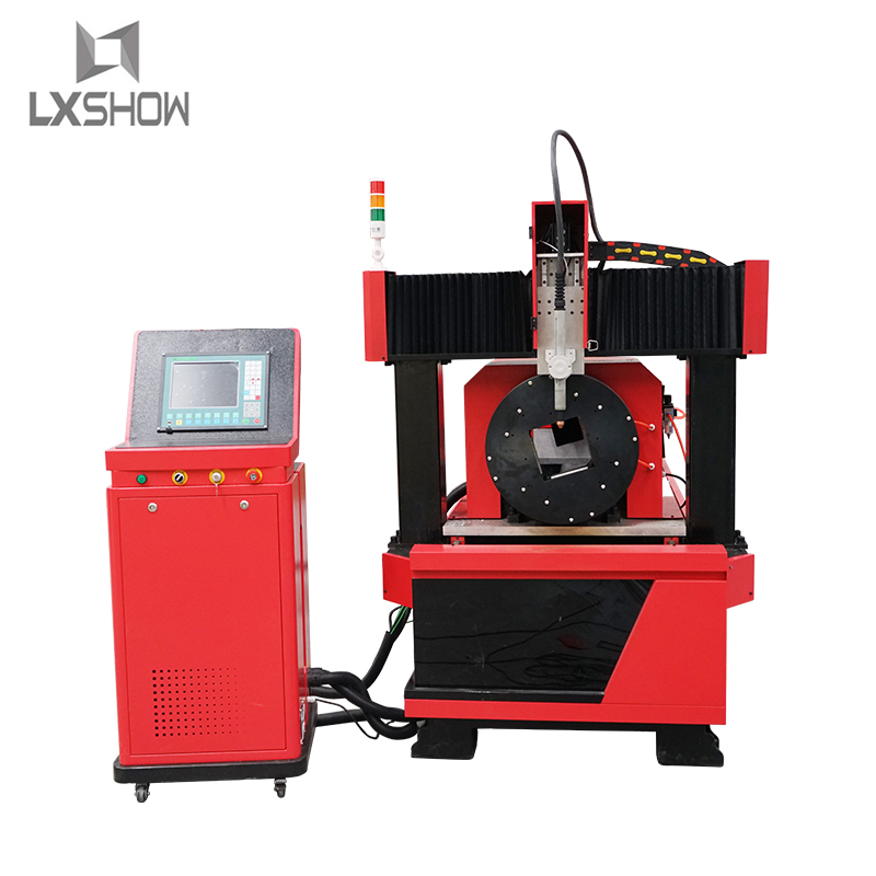 product-Lxshow-Professional Automatic Chunk rotary with Dual driver Metal tube metal pipe plasma cut