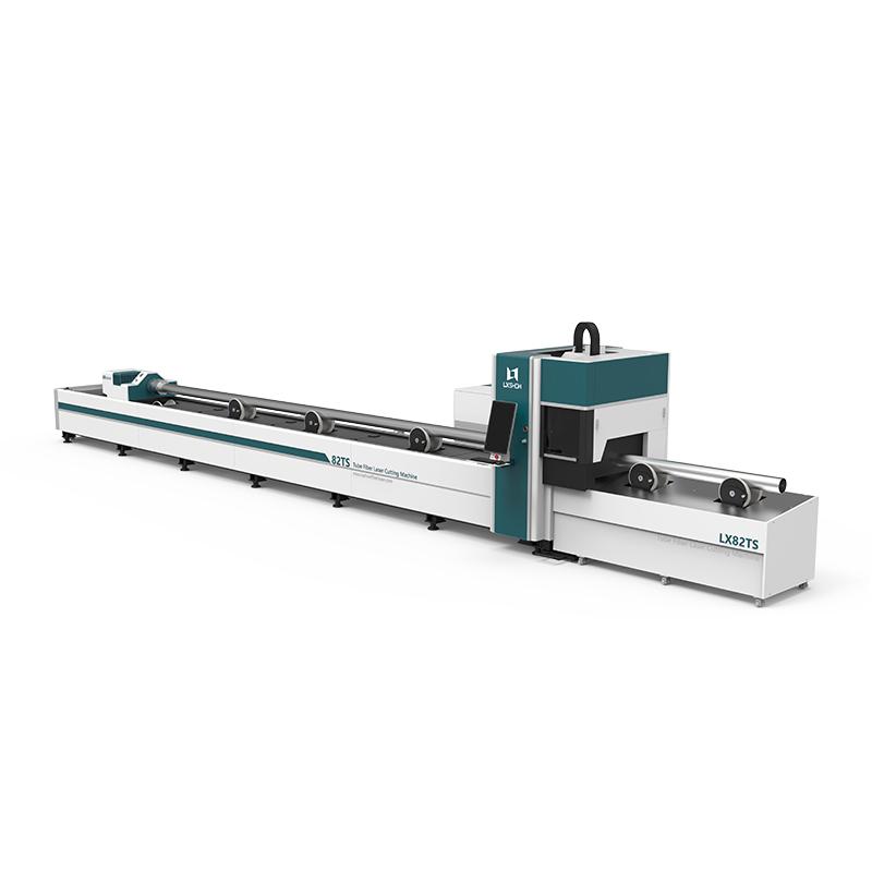 [LX82TS] Round Square tube ss cs aluminum metal pipe tube fiber laser cutter 1KW 1.5KW 2KW 3KW 4KW 6KW 8KW 12KW