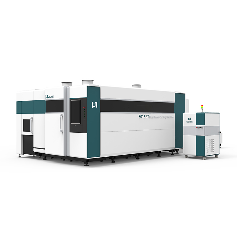 [LX3015PT] 3kw 4kw 6kw 8kw 10kw 12kw Metal Iron Fiber laser cutting machine with exchange table full cover rotary metal tube pipe fiber laser cutter