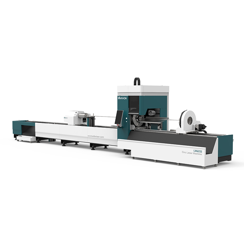 [LX62Ⅲ]Cnc laser pipe cutting machine LX62Ⅲ Three-chuck heavy-duty laser pipe cutting machine