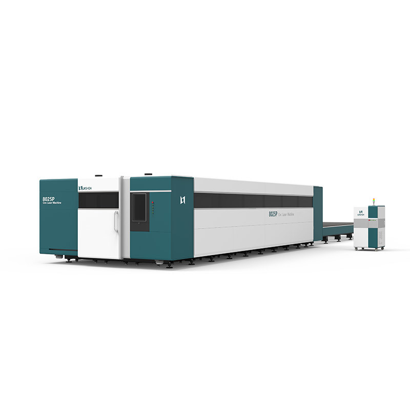 3000W 4000W 6000W 8000W 10000W 12000W cnc fiber laser cutting machine double working table Working width of each workbench 8m
