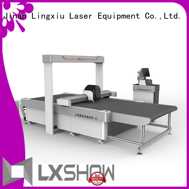 Lxshow sturdy cnc cutting machine directly sale for non-woven fabrics