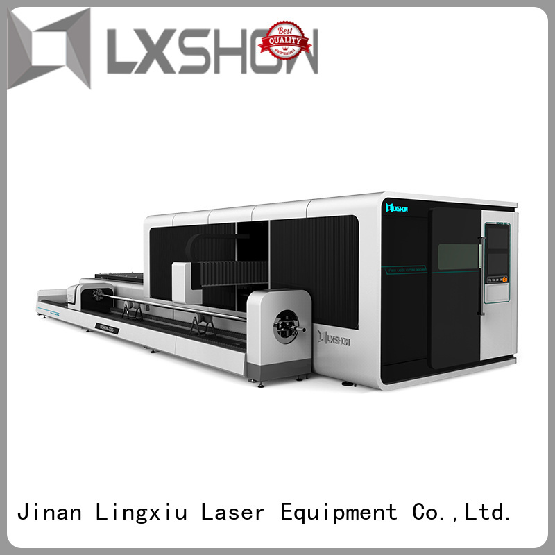 Lxshow efficient fiber laser cutter from China for Iron Plate