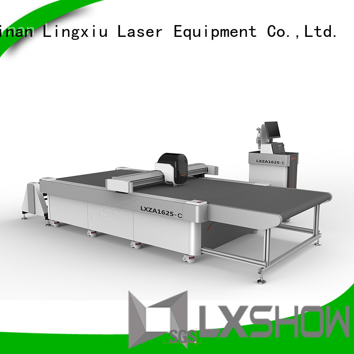 Lxshow professional fabric cutting machine promotion for sponge