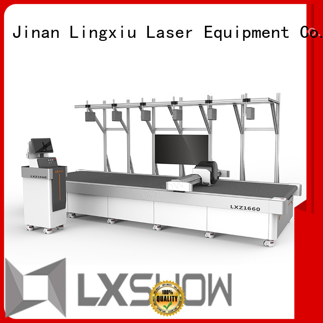 Lxshow cnc cutting machine promotion for non-woven fabrics