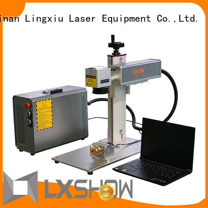 Lxshow controllable laser marking machine factory price for Cooker