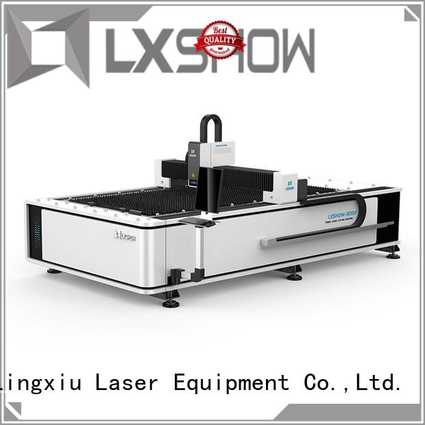 Lxshow cnc laser cutter manufacturer for packaging bottles