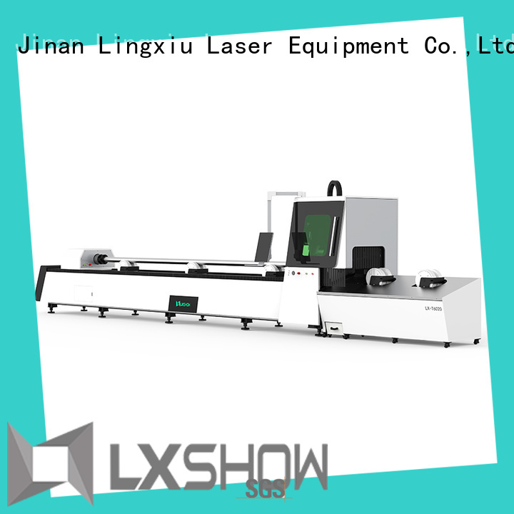 Lxshow efficient tube laser cutting factory price for metal materials cutting